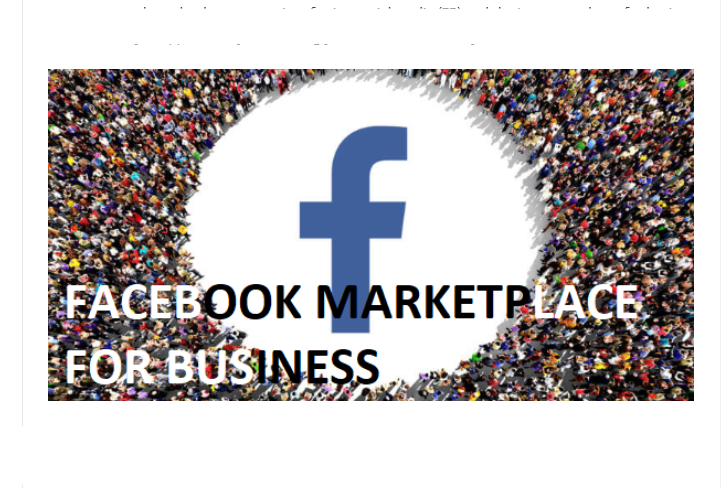 FB Marketplace for business