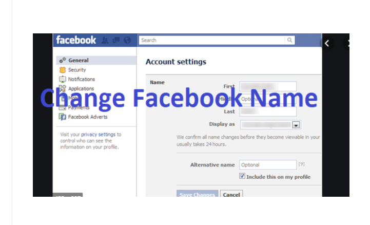 Facebook Change Name