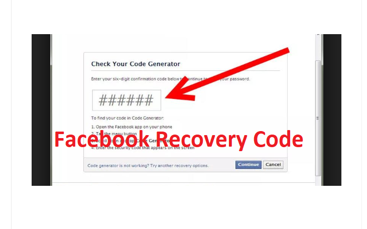 Facebook Recovery Code