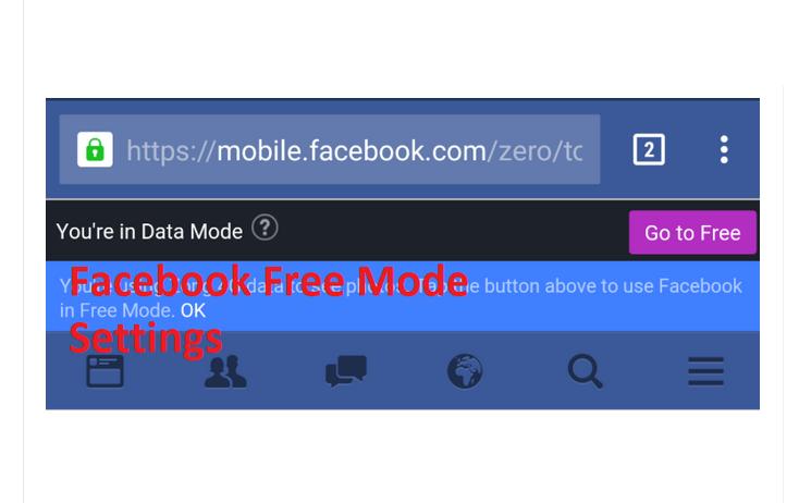 Facebook Free Mode Settings