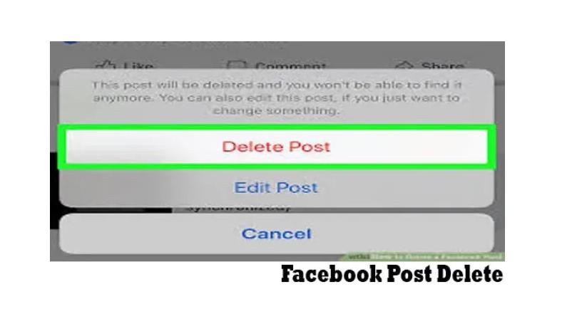 Facebook Post Delete