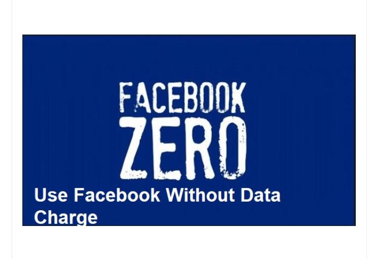 Facebook Zero Data Mode