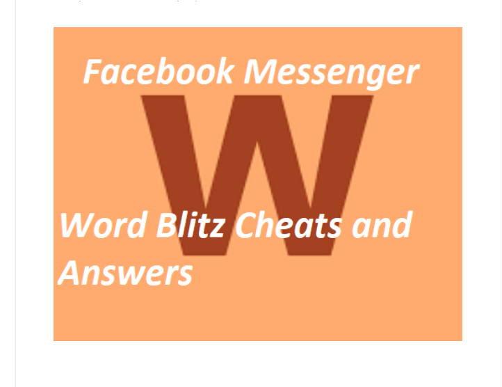 How to Win in Facebook Messenger Word Blitz Game