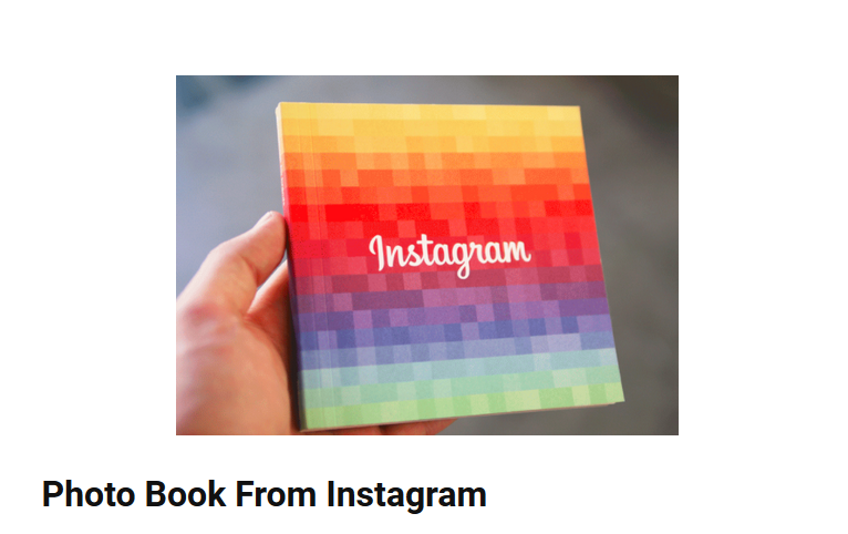 Photo Book From Instagram