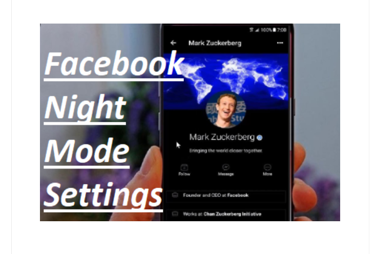 Facebook Night Mode Settings