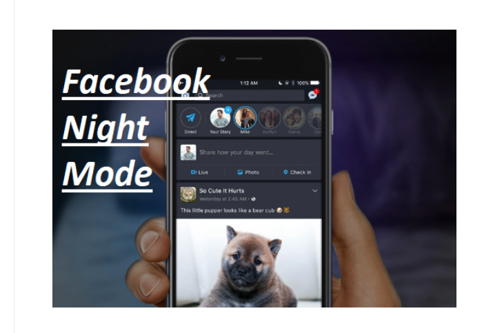 Facebook Night Mode