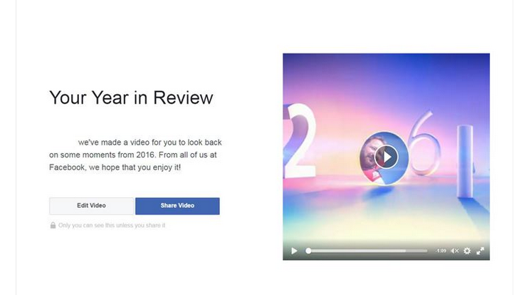 Facebook Year Review Video