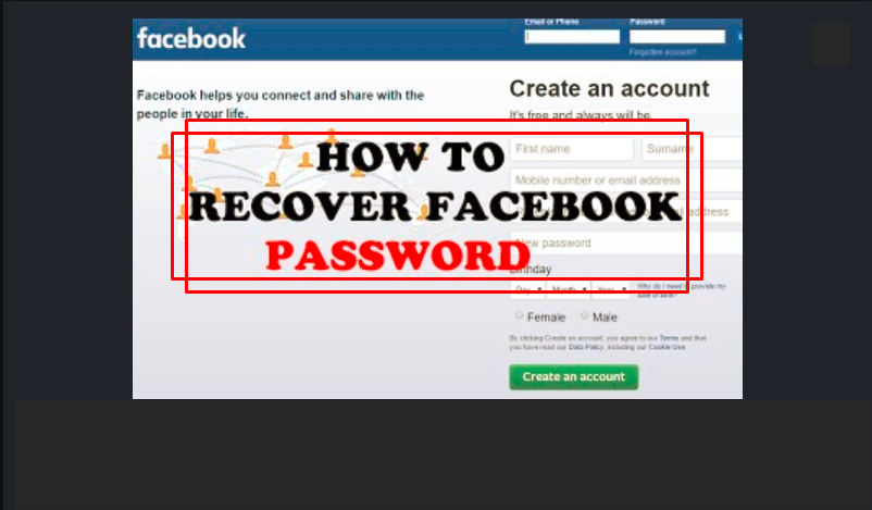 FACEBOOK RECOVER LOST ACCOUNT