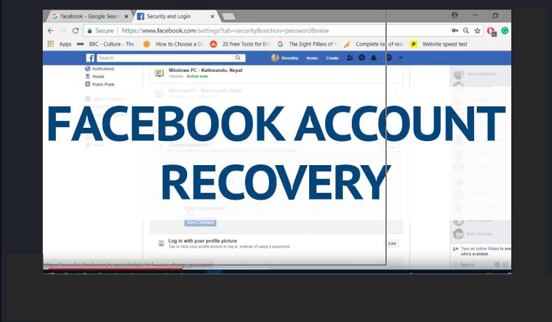FB Recovery Account