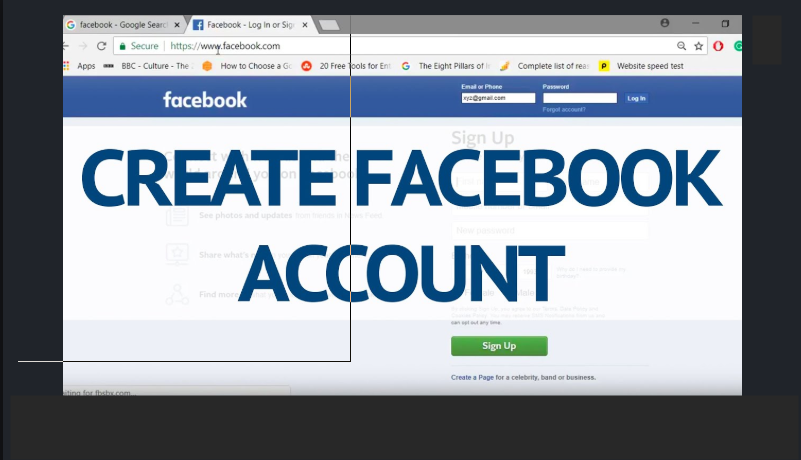 Facebook Email Account Sign Up