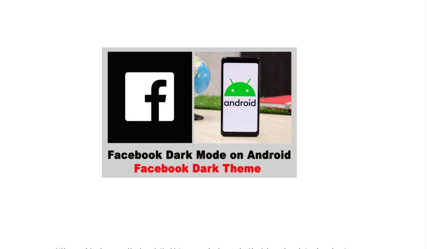 Facebook Dark Theme