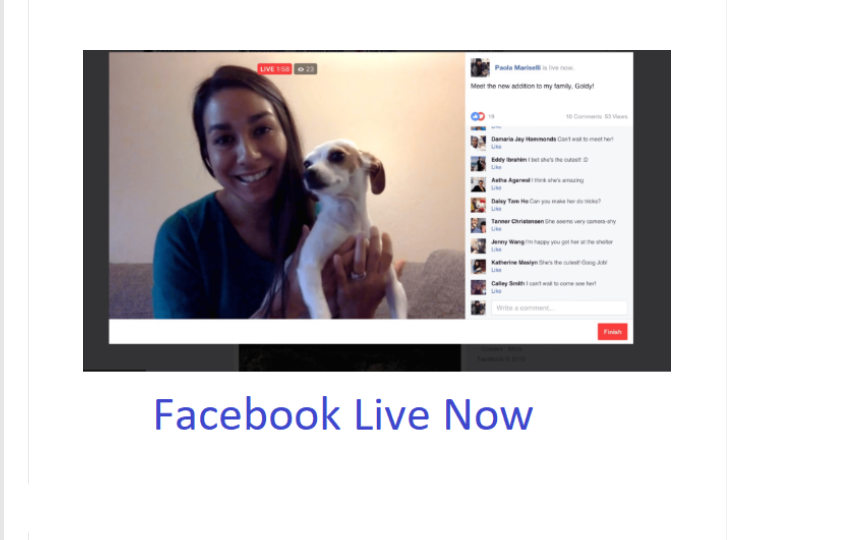 Facebook Live Now