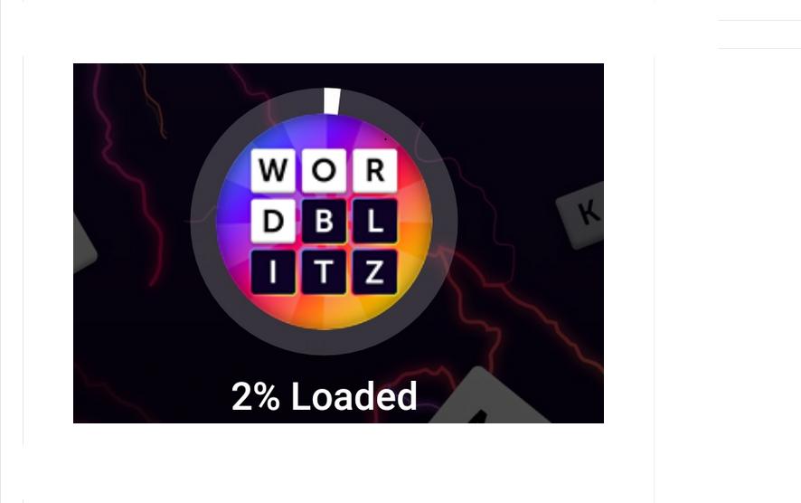 Facebook Messenger Word Blitz Game