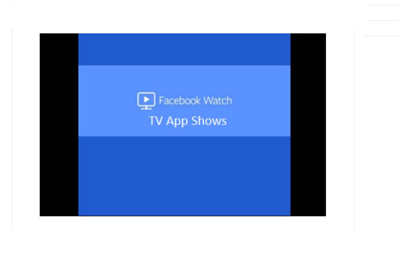 Facebook Watch TV App Shows