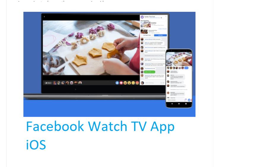 Facebook Watch TV App iOS