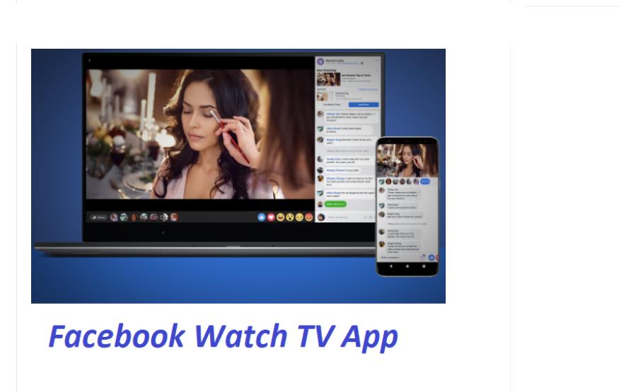 Facebook Watch TV App
