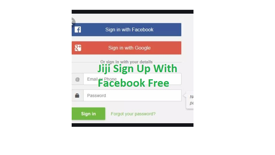 Jiji Sign up with Facebook Account