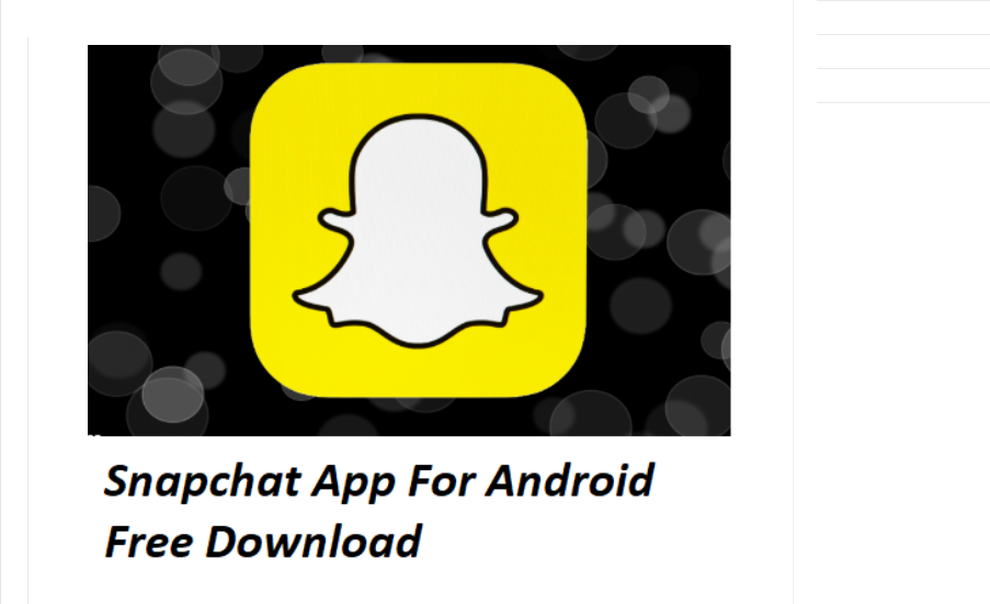 Snapchat Android Free Download