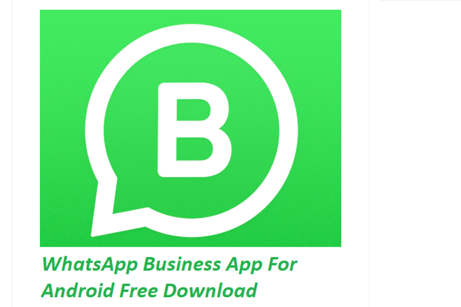 WhatsApp Business App For Android