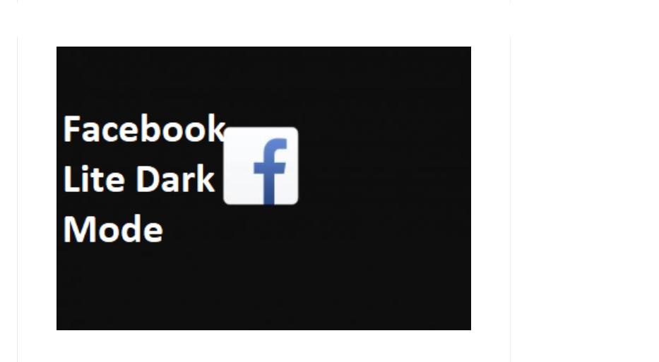 FB Lite Dark Mode