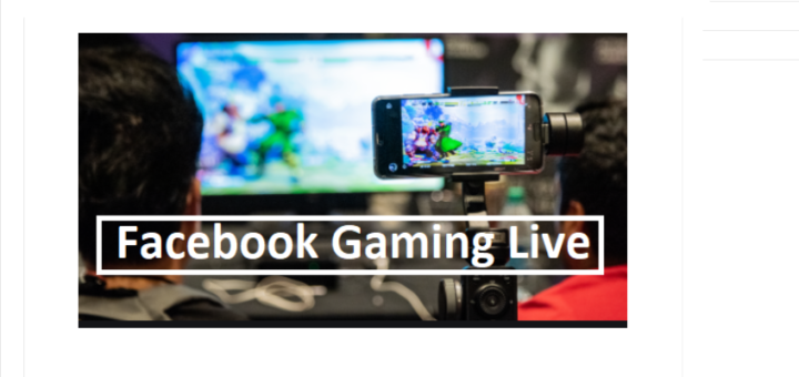 Facebook video game streaming