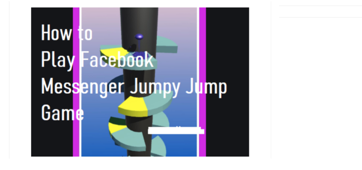How to Play Facebook Messenger Jumpy Jumpy Game