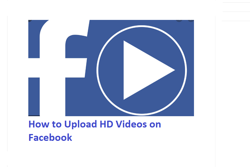 How to Upload HD Videos on Facebook