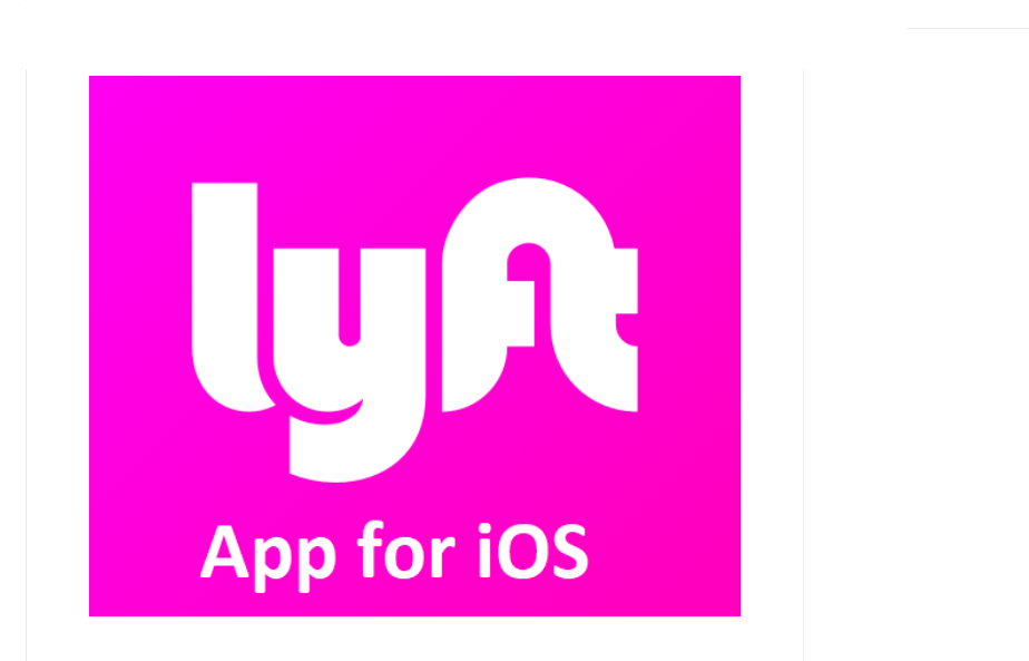 Lyft App For iOS Free Download