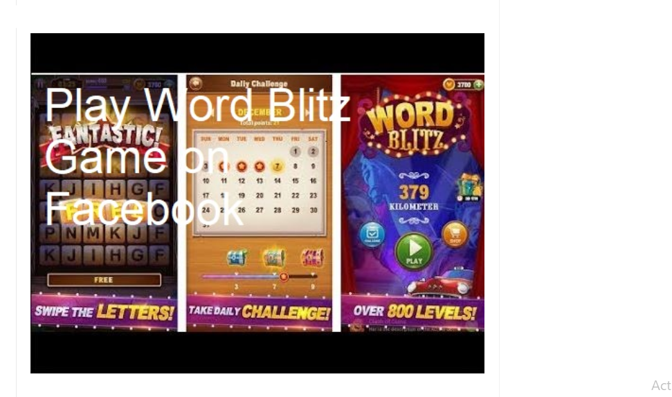Word Blitz Game
