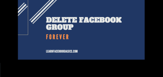 Delete Facebook Group Link