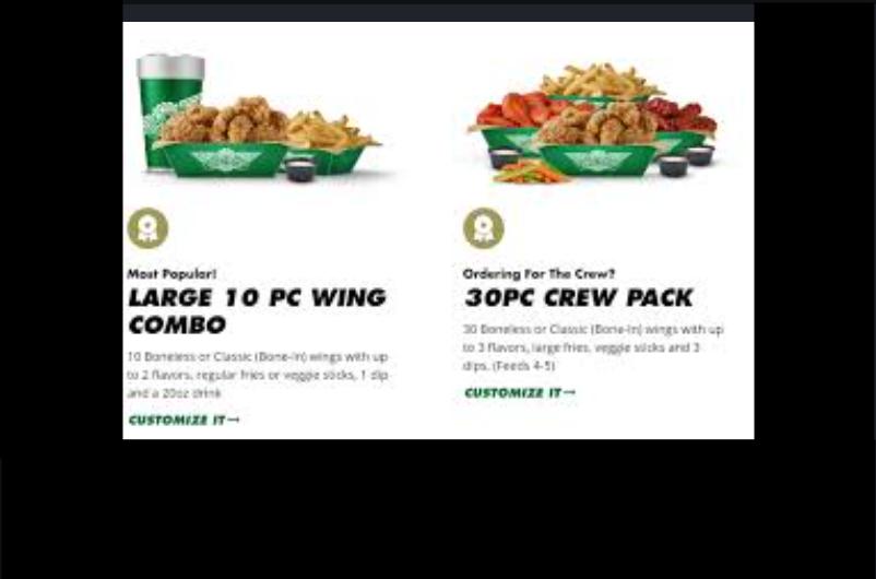 Wingstop Online Order