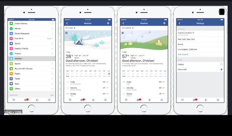 Facebook Weather Report
