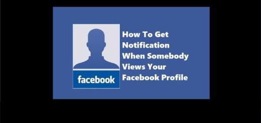 Facebook My Profile Notification