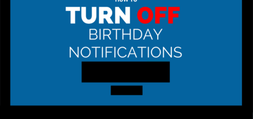 How to Turn off Birthday Notifications