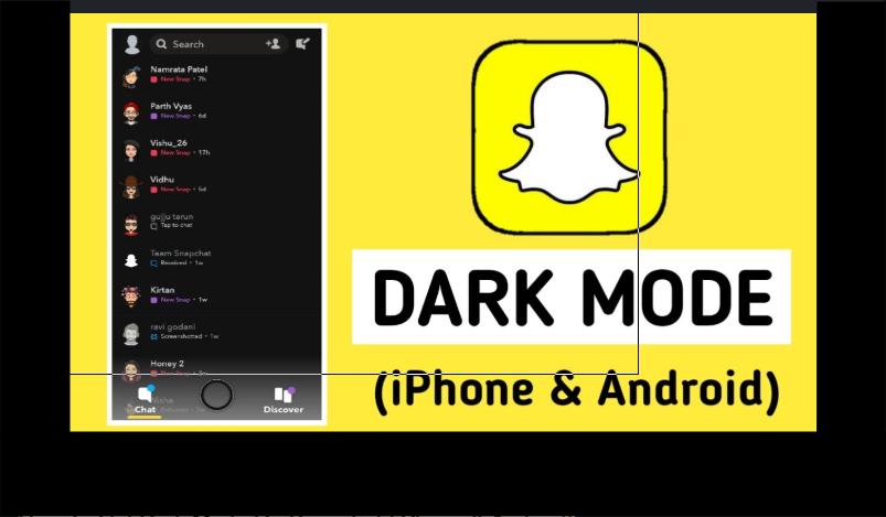 Snapchat Dark Mode Settings