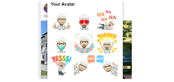 Facebook Comment in Avatar Stickers