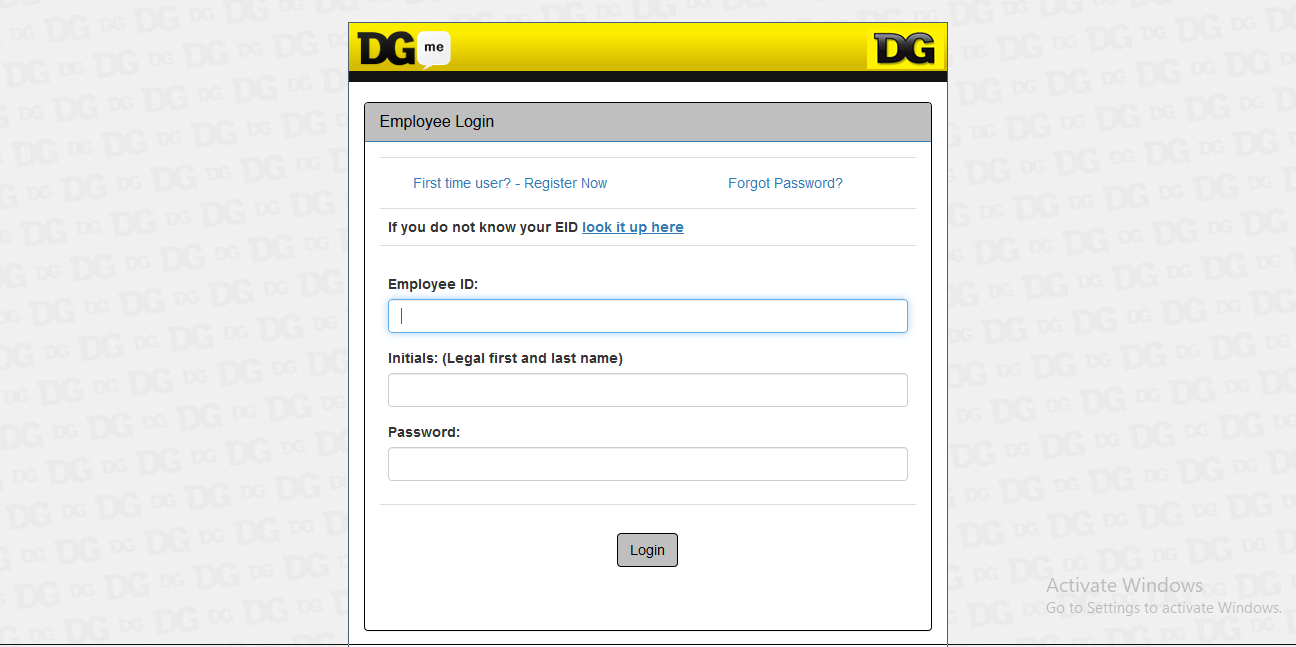 Dgme access employee portal login