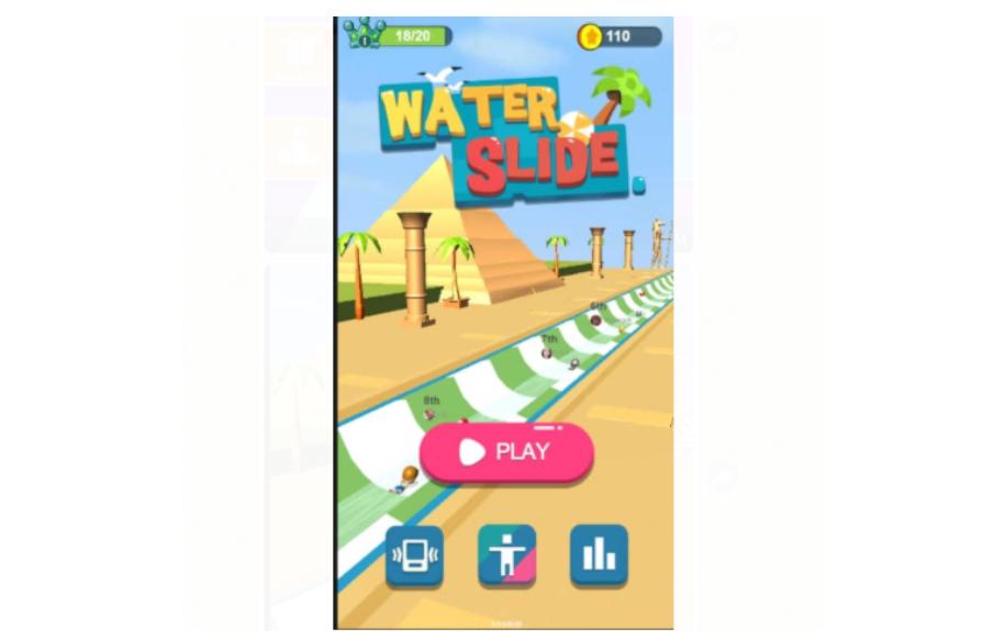 Facebook Messenger Water Slide Game Play